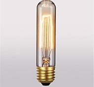 T10 AC220-240V 60W Retro Atmosphere Edison Tungsten Silk Light Bulb 1pcs