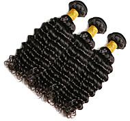 Cabello humano Cabello Hindú Tejidos Humanos Cabello Produndo Extensiones de cabello 1 Pieza Negro