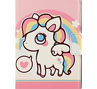 Para maçã ipad mini capa de capa 3/2/1 com suporte auto sleep / wake flip padrão magnético caixa de corpo inteiro animal cartoon hard pu
