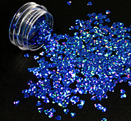 cheap -1g/Bottle Nail DIY Lovely Heart Shape Design Noble Blue Nail Art Starry Glitter Sequins Sparkling 3D Decoration Paillette 1401W