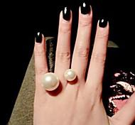 Недорогие -Жен. манжета кольцо Искусственный жемчуг Золотой Серебряный Сплав Euramerican Мода Повседневные Бижутерия