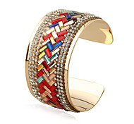 Women's Bangles Cuff Bracelet Fashion Punk Rock Rainbow Gothic Ferroalloy Metal Alloy Geometric Jewelry ForGift Stage Match Date Street