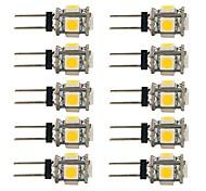 1.5W G4 LED Doppel-Pin Leuchten T 5 Leds SMD 5050 Dekorativ Warmes Weiß Weiß 90lm 2700-7000K DC 12V