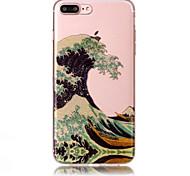Недорогие -Case for apple iphone 7 plus 7 phone case tpu материал imd процесс волны шаблон hd флеш-память телефон корпус 6 с плюс 6 плюс 6s 6 5s 5 se