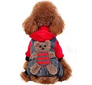 Недорогие -Собака Костюмы Плащи Толстовки Брюки Одежда для собак Для вечеринки Косплей Мода Хэллоуин Медведи Желтый Красный Костюм Для домашних