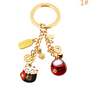 Bag / Phone / Keychain Charm Lucky Cat Copper Cartoon Toy metal Chinese Style