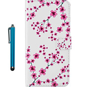 Case For Apple ipod Touch 5 Touch 6 Pattern Full Body Case With Stylus Flower Hard PU Leather