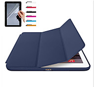 cheap -For Apple iPad Pro 10.5 iPad (2017) Case Cover Magnetic Auto Sleep Wake Up Full Body Case Solid Color Hard For Apple iPad Air 2 ipad Air ipad 2 3 4