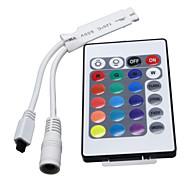 Недорогие -Hkv® 24 ключа mini rgb ir беспроводной пульт дистанционного управления для светодиодной ленты свет гибкая полоса dc 12v