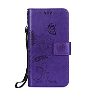 cheap -For iPhone X iPhone 8 iPhone 8 Plus Case Cover Wallet Card Holder with Stand Flip Embossed Full Body Case Flower Hard PU Leather for Apple