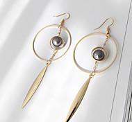 Women's Drop Earrings Imitation Pearl Euramerican Fashion Alloy Circle Jewelry Party 1 Pair