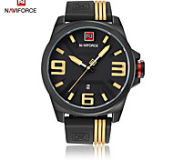 Men's Dress Watch Fashion Watch Japanese Quartz Calendar / date / day Water Resistant / Water Proof Silicone Band Casual Cool Black