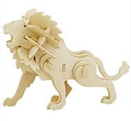 Недорогие -RUOTAI 3D пазлы Пазлы Наборы для моделирования Модель дерева Игрушки Лев Животный принт 3D Своими руками Дерево Натуральное дерево