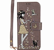 cheap -Case For Samsung Galaxy S8 Plus S8 Card Holder Wallet with Stand Glow in the Dark Flip Pattern Full Body Cases Sexy Lady Hard PU Leather