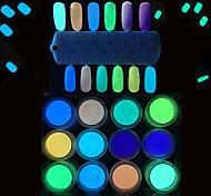 1PC Nail Art  Color  Super Bright Optical Storage Powder