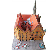 cheap -3D Puzzles Paper Model Paper Craft Model Building Kit Famous buildings Architecture 3D DIY Classic Unisex Gift