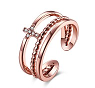 cheap -Women's Ring AAA Cubic Zirconia Basic Unique Design Rhinestone Heart Geometric Circle Friendship Adorable Personalized Hip-Hop