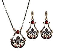 Women's Drop Earrings Necklace Personalized Floral Luxury Unique Design Pendant Vintage Petals Fashion Euramerican Statement Jewelry