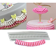 Pleated Silicone Mould Ruffle Border Fondant Cake Silicone Mold Confeitaria Cupcake Decorating Tools DIY Random Color