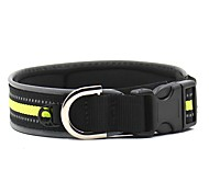 Dog Collar Reflective Portable Safety Solid Nylon for Pets Dogs
