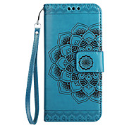 cheap -Case For Huawei Card Holder Wallet Flip Pattern Embossed Full Body Cases Mandala Flower Hard PU Leather for Mate 9 Huawei Y6 II / Honor