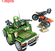 Недорогие -Конструкторы Фигурки из блоков Обучающая игрушка Игрушки Танк Автомобиль Армия Не указано Мальчики Куски