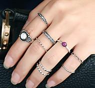 Недорогие -Жен. Классические кольца Кольцо манжета кольцо Круглый дизайн Круг Мода Рок Euramerican Готика Африка Золотистый Металлический сплав
