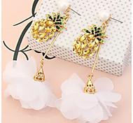 Women's Drop Earrings Rhinestone Basic Unique Design Flower Style Dangling Style Flowers Friendship Adorable Personalized Hip-Hop