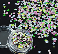 1g/Bottle New Summer Fashion Mixed Nail Art 3D Sequins Sweet Style Design Colorful Mini Round Paillette Manicure Accessories For DIY Beauty P41