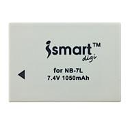 Ismartdigi 7L 7.4V 1050mAh Camera Battery for Canon PowerShot G10 G11 G12 SX30IS