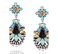 Women's Drop Earrings Dangle Earrings Rhinestone Basic Unique Design Dangling Style Pendant Geometric Religious Jewelry Euramerican