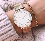 Mujer Pareja Reloj de Moda Reloj de Pulsera Reloj Pulsera Reloj creativo único Reloj Casual Chino Cuarzo Resistente al Agua Aleación Banda