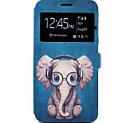 Funda Para Samsung Galaxy J7 (2016) J5 (2016) Soporte de Coche con Soporte Diseños Cuerpo Entero Animal Caricatura Dura Cuero Sintético