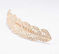 Europe and the United States foreign trade jewelry brand with fashion Metal leaves Leaves women's hair clip hair A0154