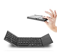 abordables -Bluetooth 87 Office Keyboard Mini Plegable Con Touch Pad