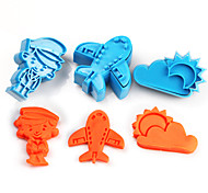 cheap -2017 New Arrival Set of 3 Airplane Symbols Cake Molds Sky Sun Cloud Cookie/Biscuit Cutter for Fondant Cake Decorating