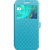 Case For Google Pixel Pixel XL Case Cover Card Holder with Stand Flip Embossed Full Body Case Geometric Pattern Hard PU Leather