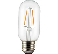 baratos -1pç 2W 140-200lm E26 / E27 Lâmpadas de Filamento de LED P45 2 Contas LED COB Decorativa Branco Quente 220-240V