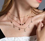 Жен. Ожерелья-бархатки Ожерелья с подвесками Слоистые ожерелья Стразы На заказ С логотипом В виде подвески Мода Euramerican Для вечеринок