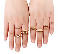 Жен. Классические кольца Кольцо манжета кольцо По заказу покупателя Rock Multi-Wear способы Euramerican Простой стильЗолотистый