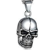 Men's Fashion Personality Skull Titanium Steel Black Drip Pendant Necklaces Christmas Gifts