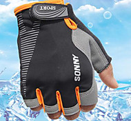 Sports Gloves Bike Gloves / Cycling Gloves Wearable Breathable Protective Sweat-Wicking Durable Fingerless Gloves Cloth Cycling / Bike