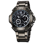 cheap -ASJ Men's Sport Watch Necklace Watch Quartz Water Resistant / Water Proof Large Dial Alloy Band Casual Word Watch Black