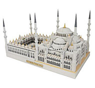 cheap -3D Puzzles Paper Model Toys Square Famous buildings Church Architecture DIY Hard Card Paper Not Specified Pieces