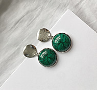 cheap -Women's Stud Earrings - Vintage / Euramerican / Fashion Green Round Earrings For Casual