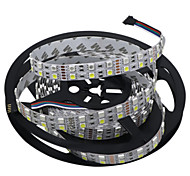 HKV® 1 Pcs 5M Double Row 5050 SMD 600LED Flexible LED Strip Light lamp No-Waterproof Home Bar Lorry Decor-RGBW RGB White DC 12V