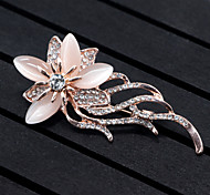 cheap -Women's Floral Flower Synthetic Opal Brooches - Floral / Flower Style / Flowers Animal Gold Brooch For Wedding / Party / Special Occasion