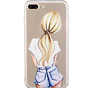 For iPhone 7Plus 7 Phone Case TPU Material Girl Pattern Painted Phone Case 6s Plus 6Plus 6S 6 SE 5s 5
