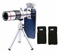cheap -Lingwei 18X Zoom Samsung Camera Telephoto Lens Wide Angle Lens / Tripod / Phone Holder / Hard Case / Bag / Cleaning Cloth (Samsung S8/S8 EDG)