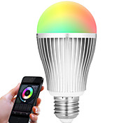 9W E27 LED Smart Bulbs A60(A19) 20 leds SMD 5730 Infrared Sensor Dimmable Remote-Controlled WIFI Light Control RGB White Dual Light